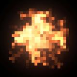 Pixel Fire rocket boost icon