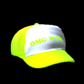 Trucker hat topper icon lime