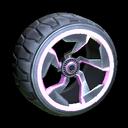 Chakram wheel icon pink