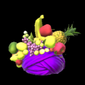 Fruit hat topper icon purple