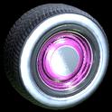 Ratrod wheel icon pink