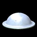 Brodie helmet topper icon titanium white