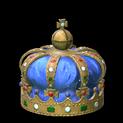 Royal crown topper icon cobalt