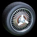 Lowrider wheel icon burnt sienna