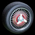 Lowrider wheel icon crimson