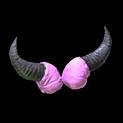 Devil horns topper icon pink