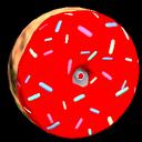Doughnut wheel icon crimson