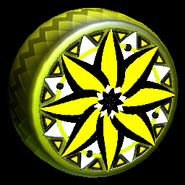 Mandala wheel icon saffron