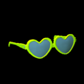 Heart glasses topper icon lime