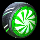 Peppermint wheel icon forest green