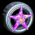 Asterias wheel icon purple