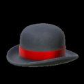 Bowler topper icon crimson