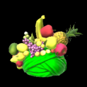 Fruit hat topper icon forest green