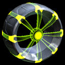 Picket Holographic wheel icon lime