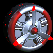 Propeller wheel icon crimson