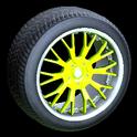 Sunburst wheel icon lime