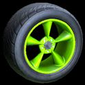 Stern wheel icon lime