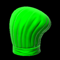 Chefs hat topper icon forest green