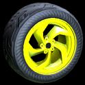 Vortex wheel icon saffron