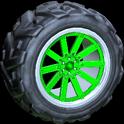 Almas wheel icon forest green