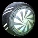 Peppermint wheel icon grey