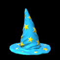 Wizard hat topper icon sky blue