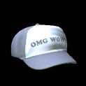 Trucker hat topper icon grey