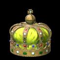 Royal crown topper icon saffron