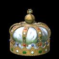 Royal crown topper icon titanium white