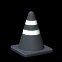 Traffic cone topper icon black