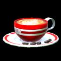 Latte topper icon crimson