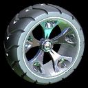 Wrench-Roller wheel icon titanium white
