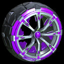 Truncheon wheel icon purple