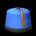 Fez topper icon cobalt