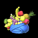 Fruit hat topper icon cobalt