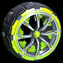 Truncheon wheel icon lime