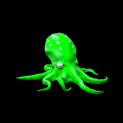 Octopus topper icon forest green
