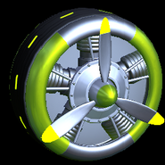Propeller wheel icon lime