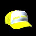 Trucker hat topper icon saffron