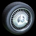 Lowrider wheel icon titanium white
