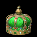 Royal crown topper icon forest green