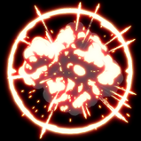 Toon goal explosion icon