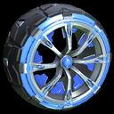 Truncheon wheel icon cobalt