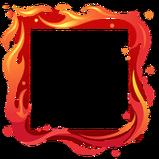 Flame avatar border icon