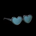Heart glasses topper icon black