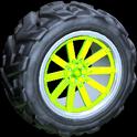 Almas wheel icon lime