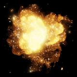 Golden Cosmos rocket boost icon
