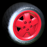 Jurassic Jeep Wrangler wheel icon - orange team