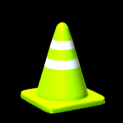 Traffic cone topper icon lime