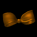 Little bow topper icon burnt sienna